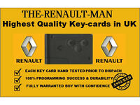 Renault key cards and fobs supplied and programmed all models 2001-2016