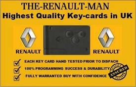 Replacement Renault Megane/Scenic Key Cards Rayleigh - 07717 575572
