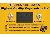 Replacement Renault Megane/Scenic Key Cards Romford- 07717 575572