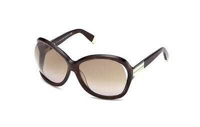 Nuevo Dsquared2 DQ0092 Extragrande Havana Gafas de Sol Hecho en Italia