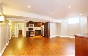 Bright and Spacious 2 bedroom + 2 living rooms basement for rent
