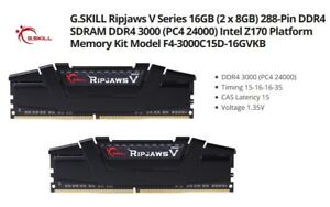 16 GB G.SKILL DDR4-3000 MHz Ripjaws V  (2x8GB) RAM CL15