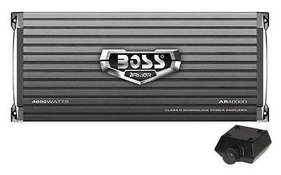Boss Ar4000d Armor 4000W Monoblock Class D Car Audio Amplifier Amp   Remote