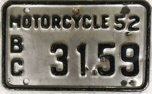 = Vintage Collector Motorcycle License Plates= 50's, 60's, 70's,