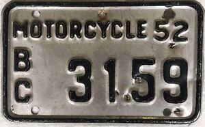== Classic Bike? Vintage Collector License Plates == 1950's up