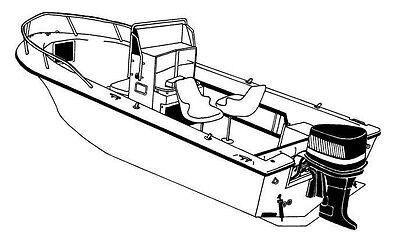 STYLED TO FIT BOAT COVER for SEA PRO SEA BOSS 180 CC 2006 BOW RAILS OB
