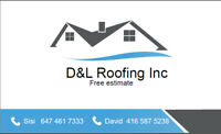 D&L Roofing Inc.  Good quality free estimates