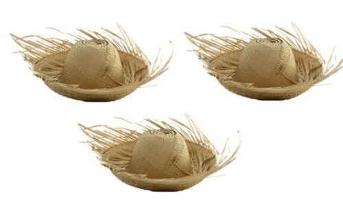Lot of 3 Puerto Rico Jibaro Pava Hat Adult Size Boricua Rican * Palm Hat
