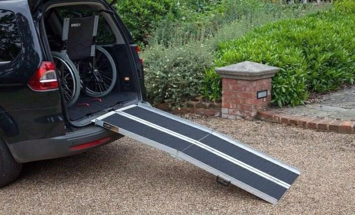Mulit fold Aluminium loading ramps suitable for Mobility scooters & Wheelchairs trikes & quads vans