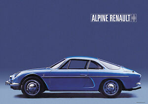 renault alpine a110 berlinette classic car poster imprime a1 ebay. Black Bedroom Furniture Sets. Home Design Ideas