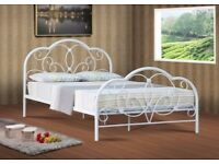 New white abbey strong metal 4ft6 double bed £129