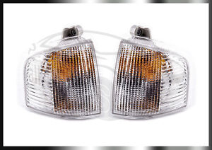 FORD ESCORT MK4 & RS PAIR CLEAR INDICATORS FLASHER DRIVER PASSENGER 3204191/201E