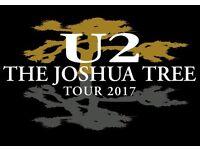2 tickets U2 Joshua Tree Tour + Noel Gallagher support - Seated Twickenham , London, Sat 8 July