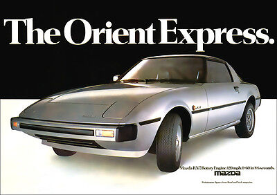 MAZDA RX7 SPORTS COUPE RX-7 RETRO A3 POSTER PRINT FROM CLASSIC 70'S ADVERT