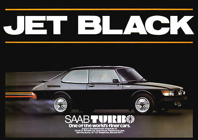 SAAB 99 TURBO RETRO A3 POSTER PRINT FROM CLASSIC ADVERT