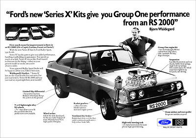 FORD ESCORT RS2000 RALLYE SPORT RETRO A3 POSTER PRINT FROM 70's ADVERT