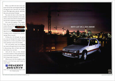 PEUGEOT 205 GTI 1.9 PUG RETRO A3 POSTER PRINT FROM CLASSIC 80'S ADVERT