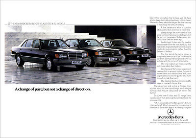 MERCEDES S CLASS W126 420SEL 420SL 500SEC RETRO A3 POSTER PRINT FROM 80'S ADVERT
