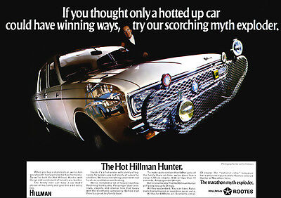 HILLMAN HUNTER RETRO A3 POSTER PRINT FROM CLASSIC 60's ADVERT