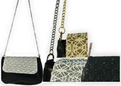 Glitter & Leatherette Shoulder Bag Leatherette Womens Shoulder Bag
