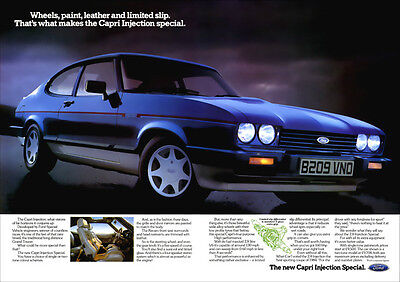FORD CAPRI 2.8 INJECTION SPECIAL RETRO A3 POSTER PRINT FROM CLASSIC ADVERT