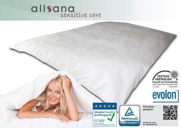 Allsana Allergiker Deckenbezug 155x220 cm Encasing Anti Milben Bettwäsche