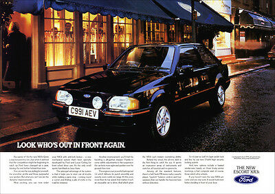 FORD ESCORT XR3i RETRO A3 POSTER PRINT FROM CLASSIC 80's ADVERT