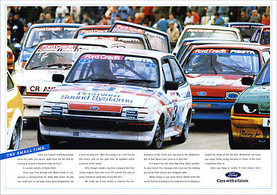 FORD FIESTA XR2 RACERS RETRO A3 POSTER PRINT FROM CLASSIC 80'S ADVERT