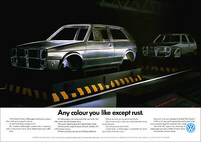 VW GOLF MK2 RETRO POSTER A3 PRINT FROM CLASSIC 80'S ADVERT
