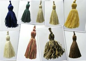 11cm-Key-Tassel-Cream-Ivory-Dark-Beige-Green-Camel-CERTAIN-COLOURS-NOW-SOLD-OUT