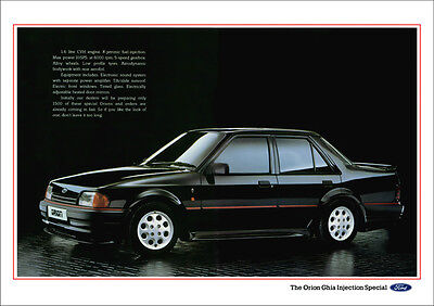 FORD ORION GHIA INJECTION SPECIAL RETRO A3 POSTER PRINT FROM CLASSIC 80's ADVERT