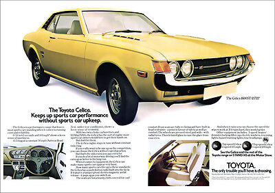 TOYOTA CELICA RETRO A3 POSTER PRINT FROM CLASSIC 70's ADVERT