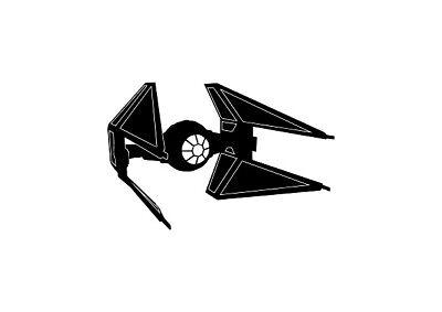 star wars tie interceptor decal sticker window wall laptop door room