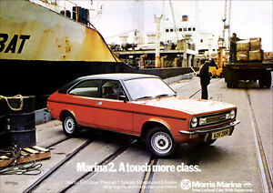 MORRIS MARINA GT COUPE RETRO A3 POSTER PRINT FROM CLASSIC 70'S ADVERT
