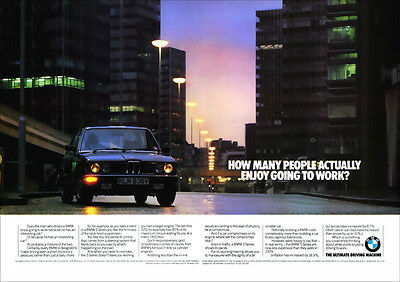 BMW E12 5 SERIES RETRO A3 POSTER PRINT FROM CLASSIC ADVERT