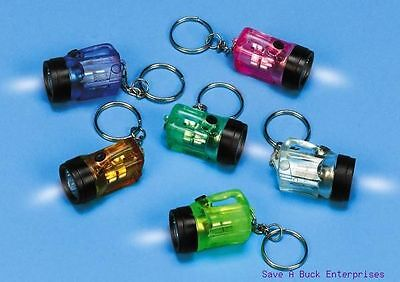 (72)  Flash Light Mini Key Chains ~ Cute Novelty Flashlights wholesale (6 dozen)
