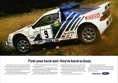 FORD RS200 RS 200 RALLY CAR GROUP RETRO A3 POSTER PRINT FROM CLASSIC 80'S ADVERT