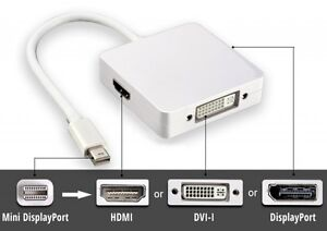 DISPLAYPORT DP CABLES TO  HDMI 3 IN 1 FOR MACBOOK PRO-AIR