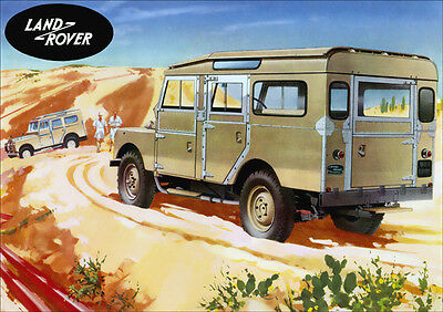 LAND ROVER SERIES 1 LWB STATION WAGON RETRO A3 POSTER PRINT FROM CLASSIC ADVERT
