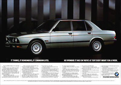 BMW E28 5 SERIES 528i RETRO A3 POSTER PRINT FROM CLASSIC ADVERT