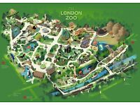Family tickets to london zoo 30th sept