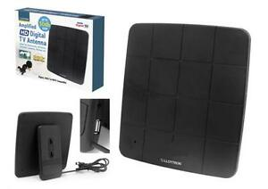 Lloytron A3202 Active Amplified Indoor Digital TV HD DAB Antenna 50dB Gain Black