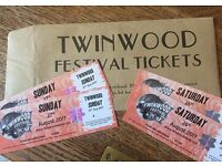 2 Twinwoods Tickets for Saturday & sunday