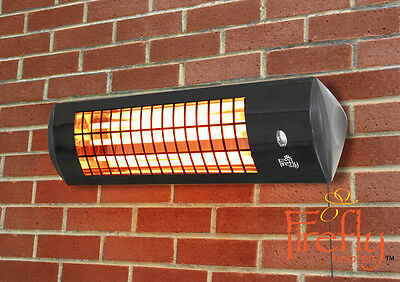 Firefly 1.8kW Wall Mounted Electric Outdoor Patio Heater Winter Warmth Garden