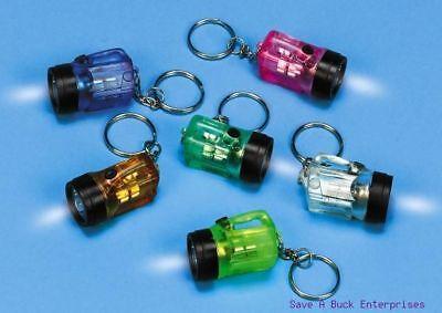 ( 216 ) 18 dozen FLASHLIGHT BULB - mini key chains - party wholesale lot