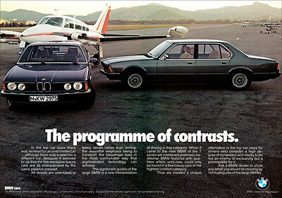 BMW E23 7 SERIES LUXURY SEDAN RETRO A3 POSTER PRINT FROM CLASSIC ADVERT
