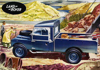 LAND ROVER SERIES 1 LWB TRUCK CAB RETRO A3 POSTER PRINT FROM CLASSIC ADVERT