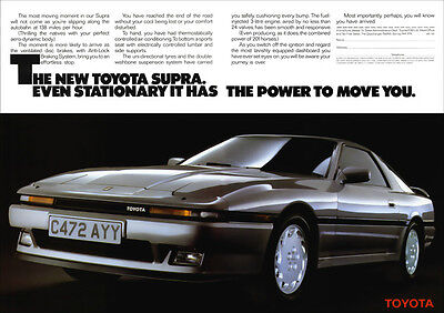 TOYOTA SUPRA RETRO POSTER A3 PRINT FROM CLASSIC 80'S ADVERT