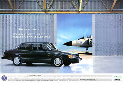 SAAB 900 TURBO RETRO A3 POSTER PRINT FROM CLASSIC 80'S ADVERT