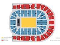 2x Kaiser Chief tickets, London O2, Great seats, Block 102